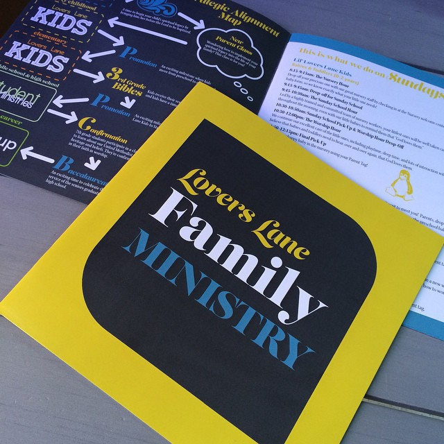 church family ministry brochure on behance