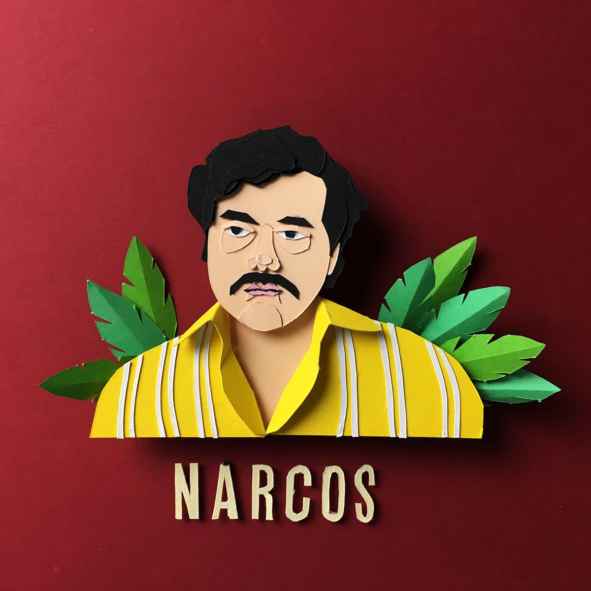 papercut narcos Pablo Escobar Netflix Character