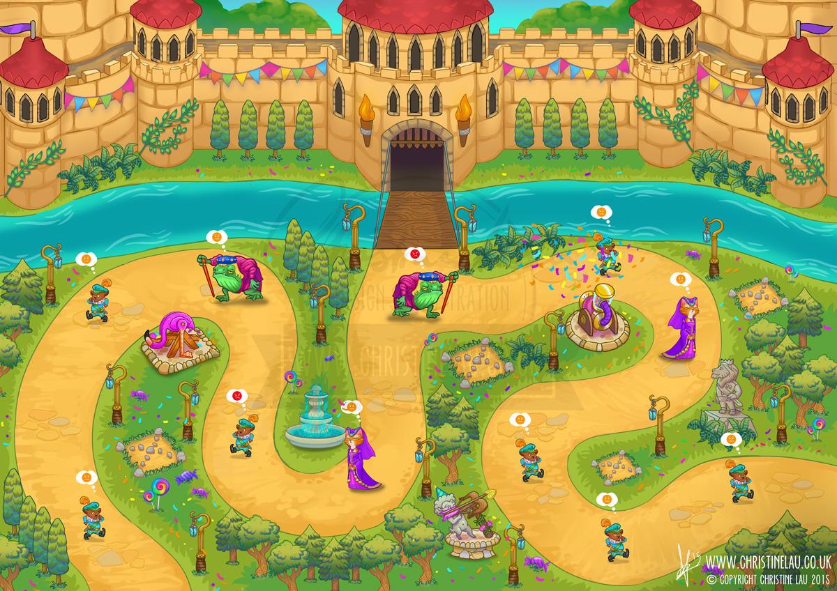 Castle Defence tower Character design asset assets game mobile tablet PC app application fantasy medieval