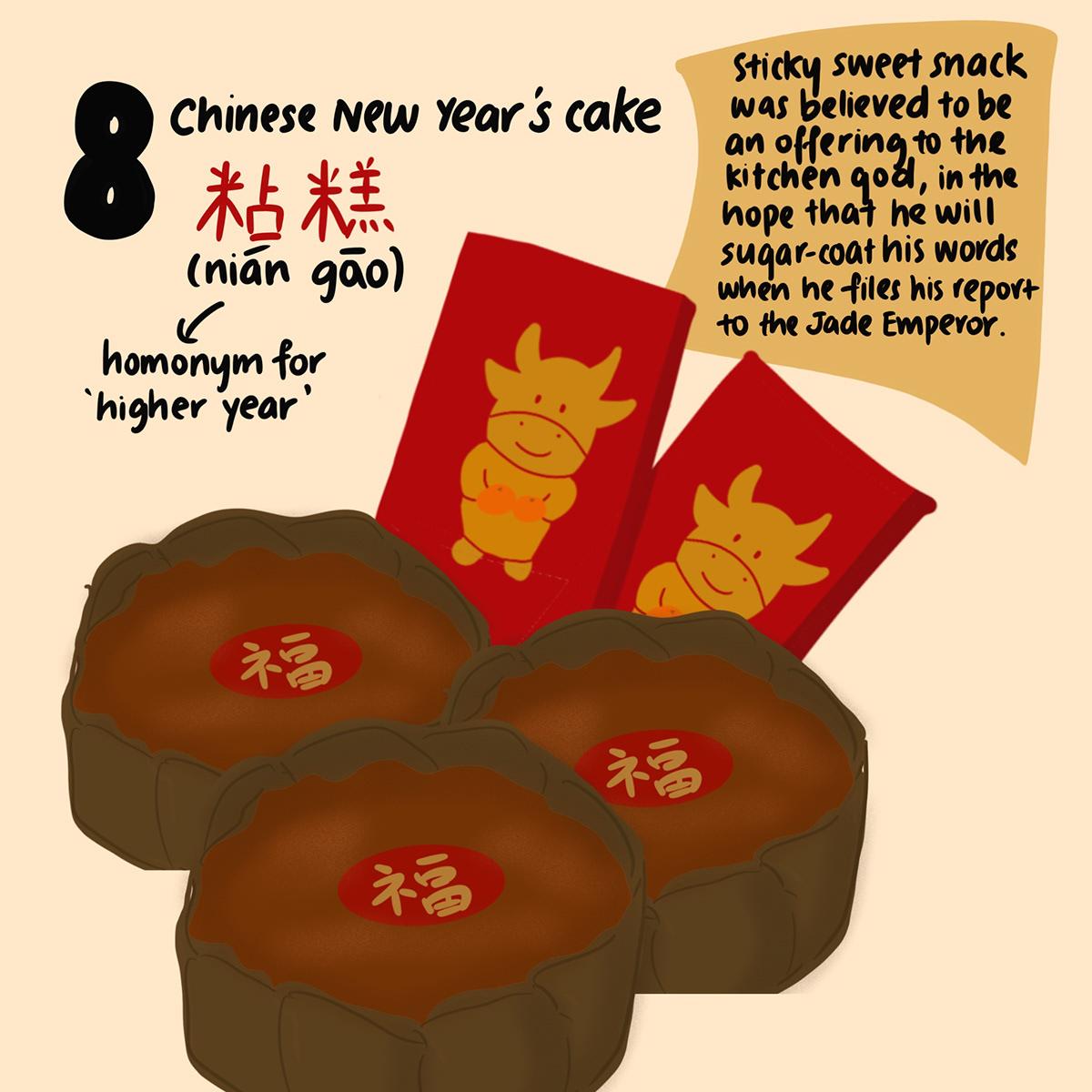 chinese new year cny customs digital illustration ILLUSTRATION  LNY Lunar New Year traditions
