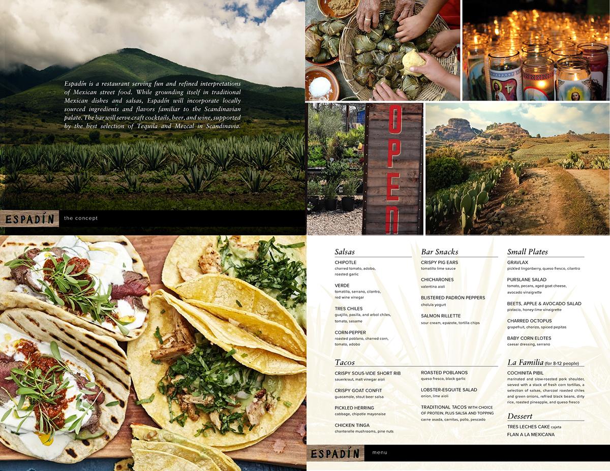 taqueria mezcal identity restaurant design menu