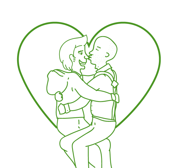 ilustration Love pride gay orgullo amor colors draw pink green gboys guys