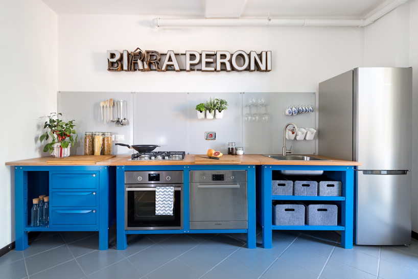 Very Simple Kitchen Blue On Behance
