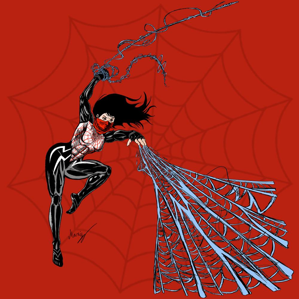 Marvel Character Design Behance : Marvel silk t shirt designs on behance