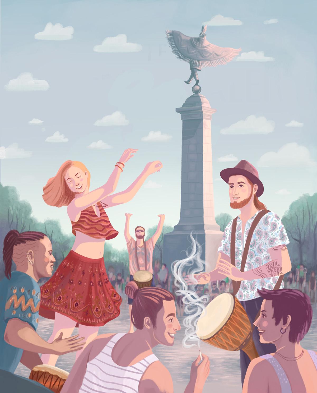 Editorial Illustration ILLUSTRATION  illustration québec magazine photoshop desig art Le Montréaler joyfull illustration