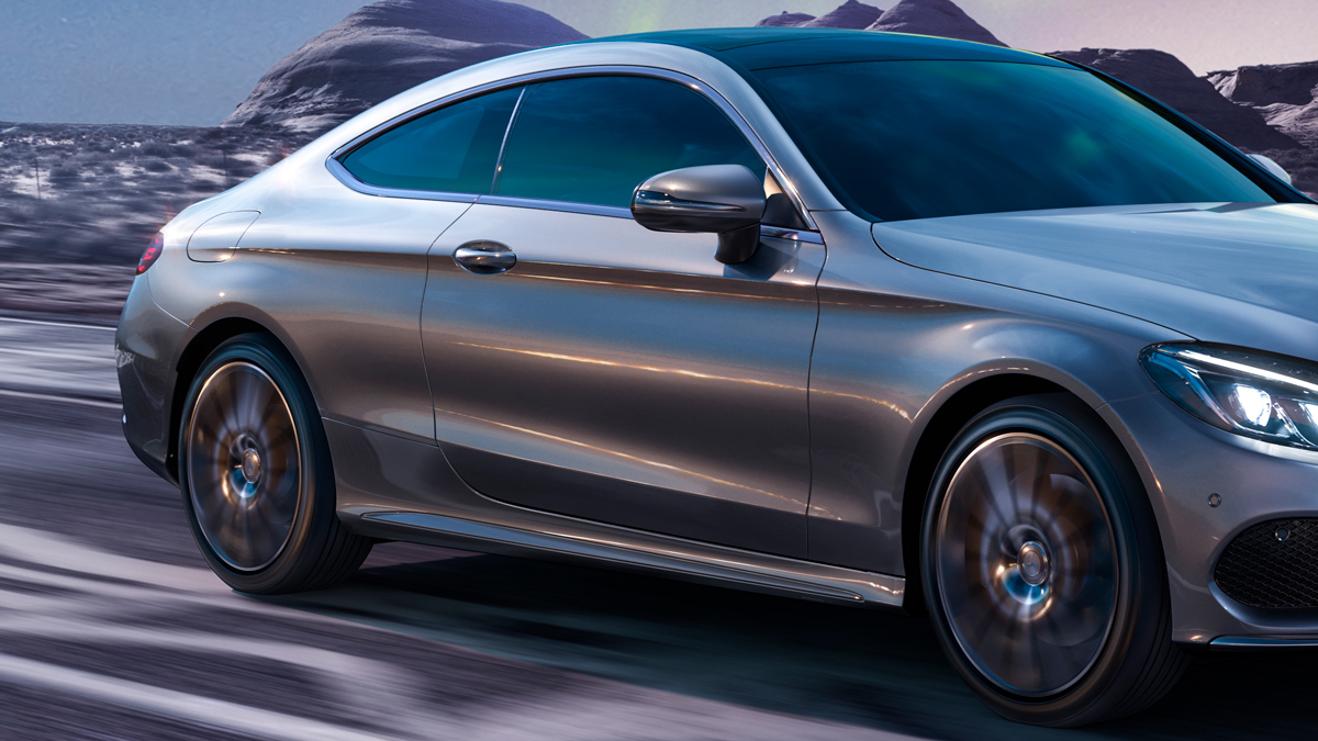 Mercedes Benz mercedes retouch retouching  3dsmax corona vray photoshop CClass