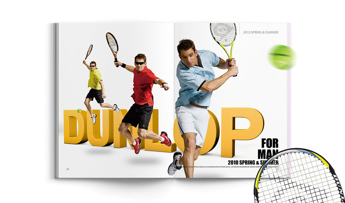 Catalogue design Sport Clothes Dunlop brochures 画册 宣传册 品牌