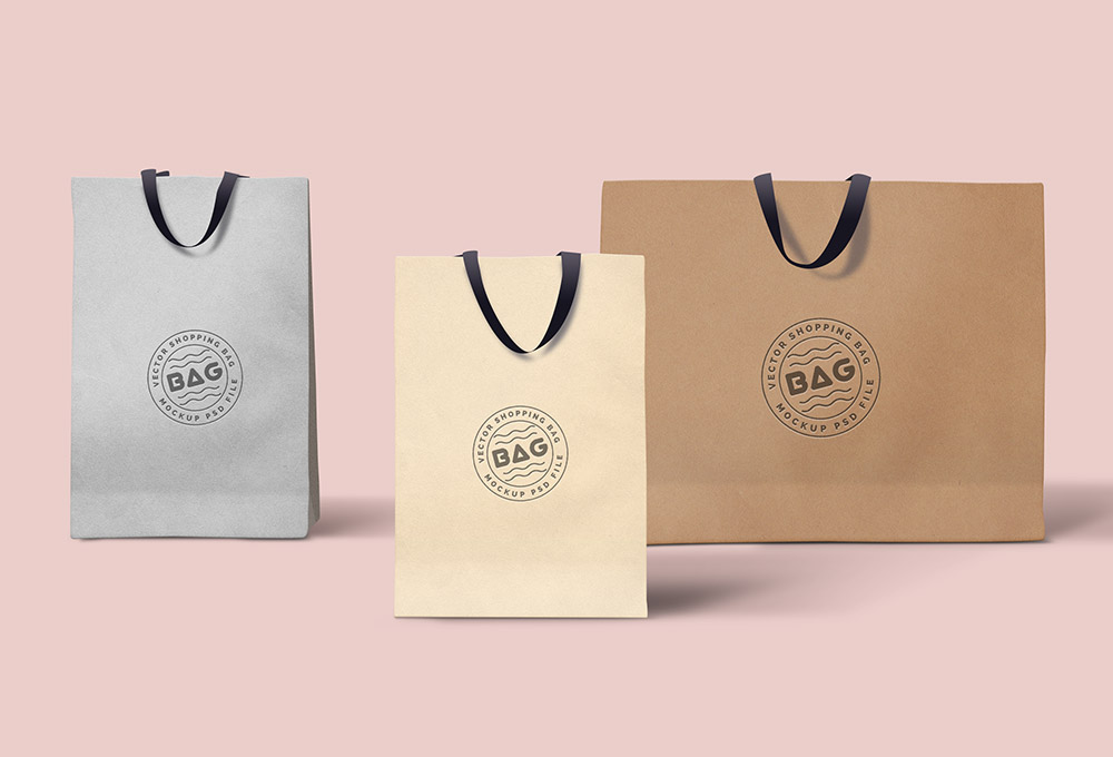 Shopping Bags PSD Template on Behance