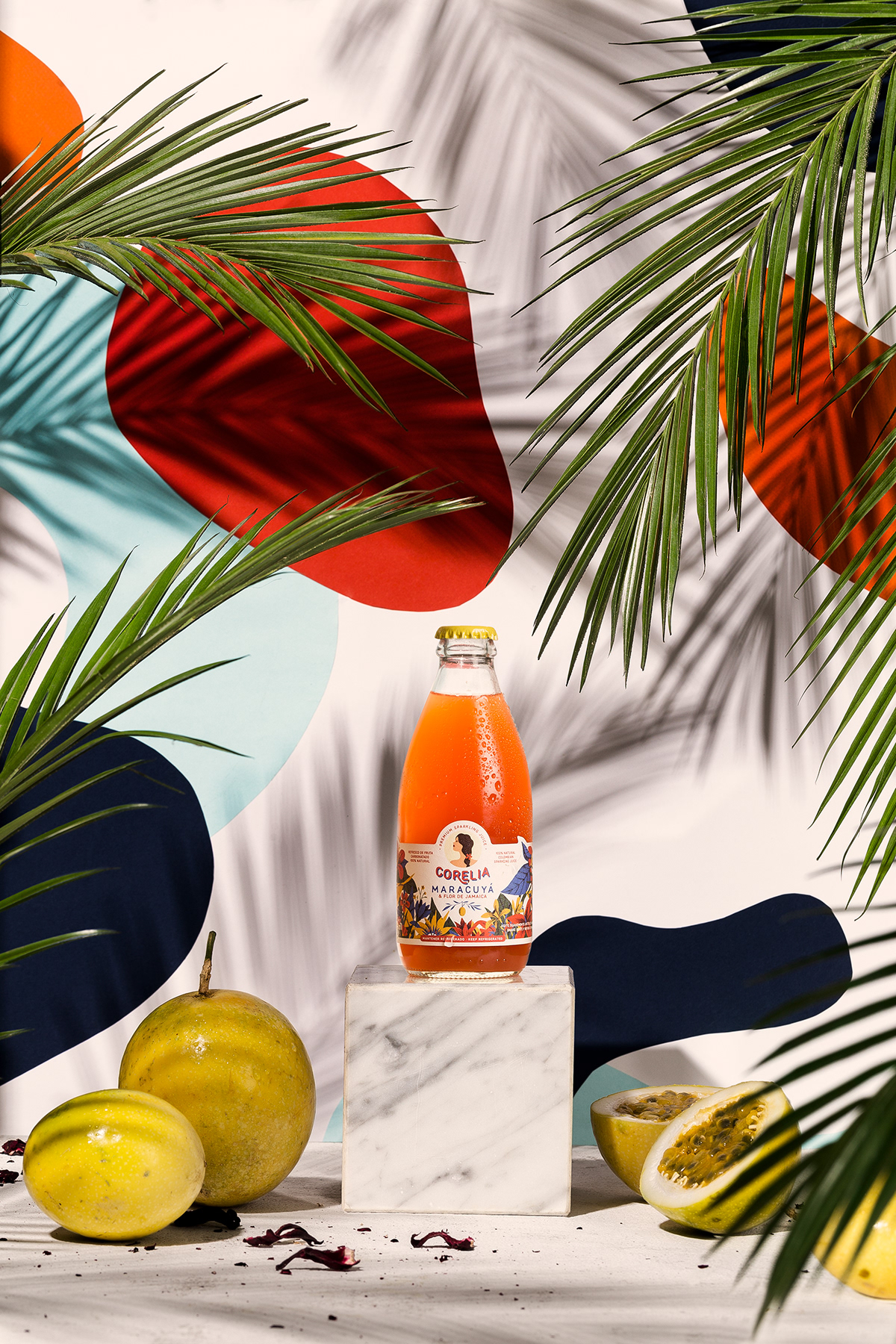 Food  Photography  Tropical juice product shapes Nature styling  art direction  food styling