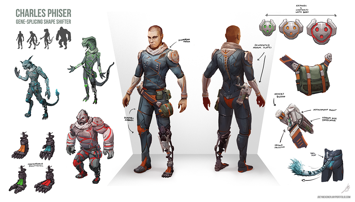 Shapeshifter Character Design : Morphing cyberpunk character design on behance