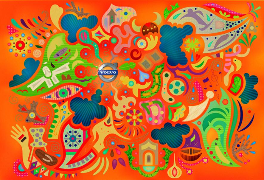 abstract organic intense happy tree friends cartoon
