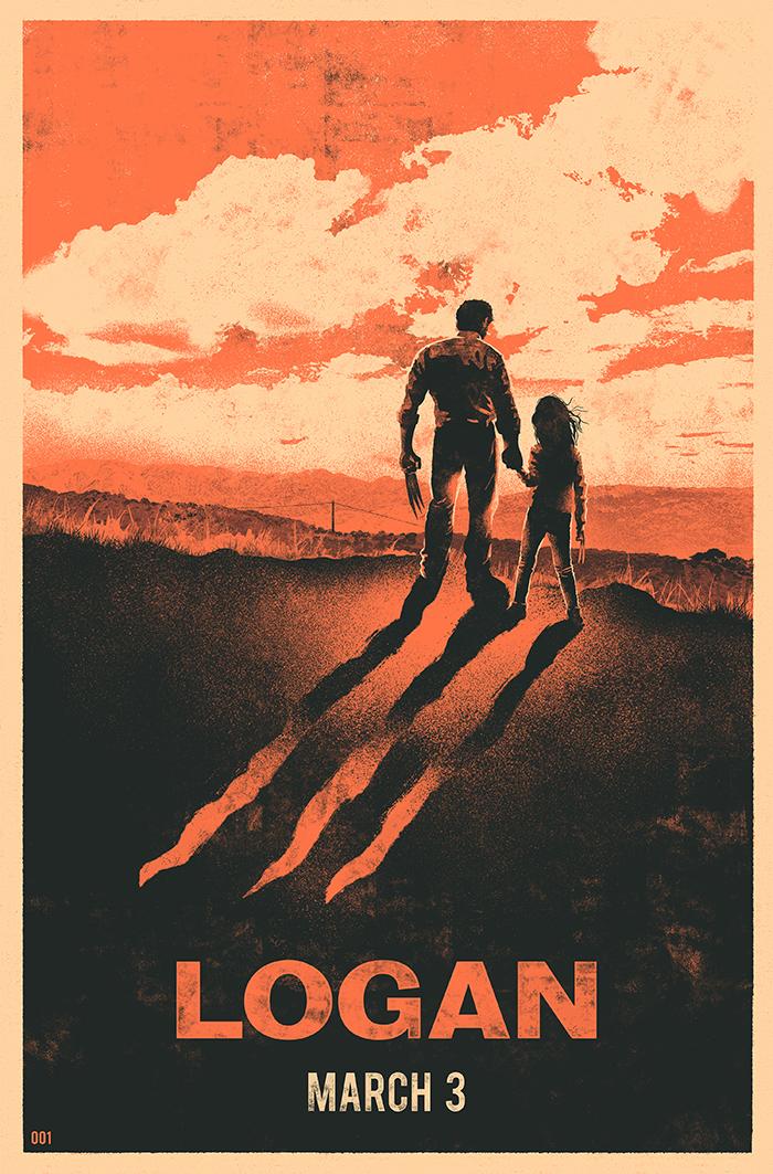 logan illustrated movie poster on behance