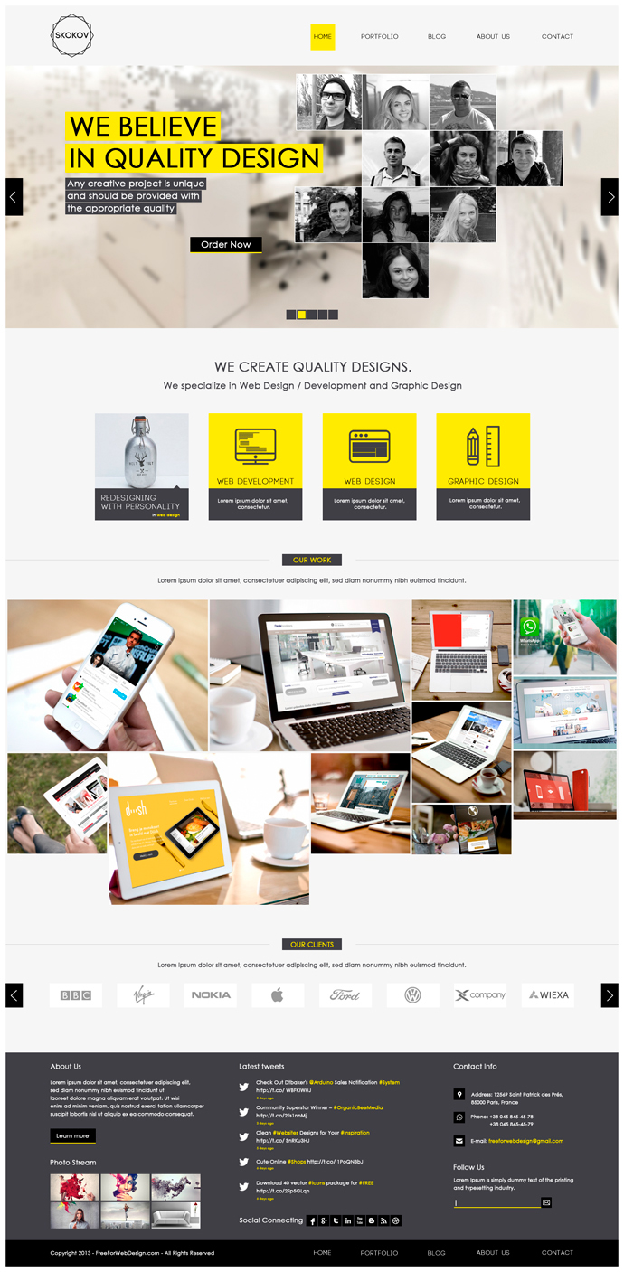 Skokov free corporate web design template psd on behance skokov is a great design idea for website of creative corporate corporation organization company profile personal portfolio creative blog and more pronofoot35fo Choice Image