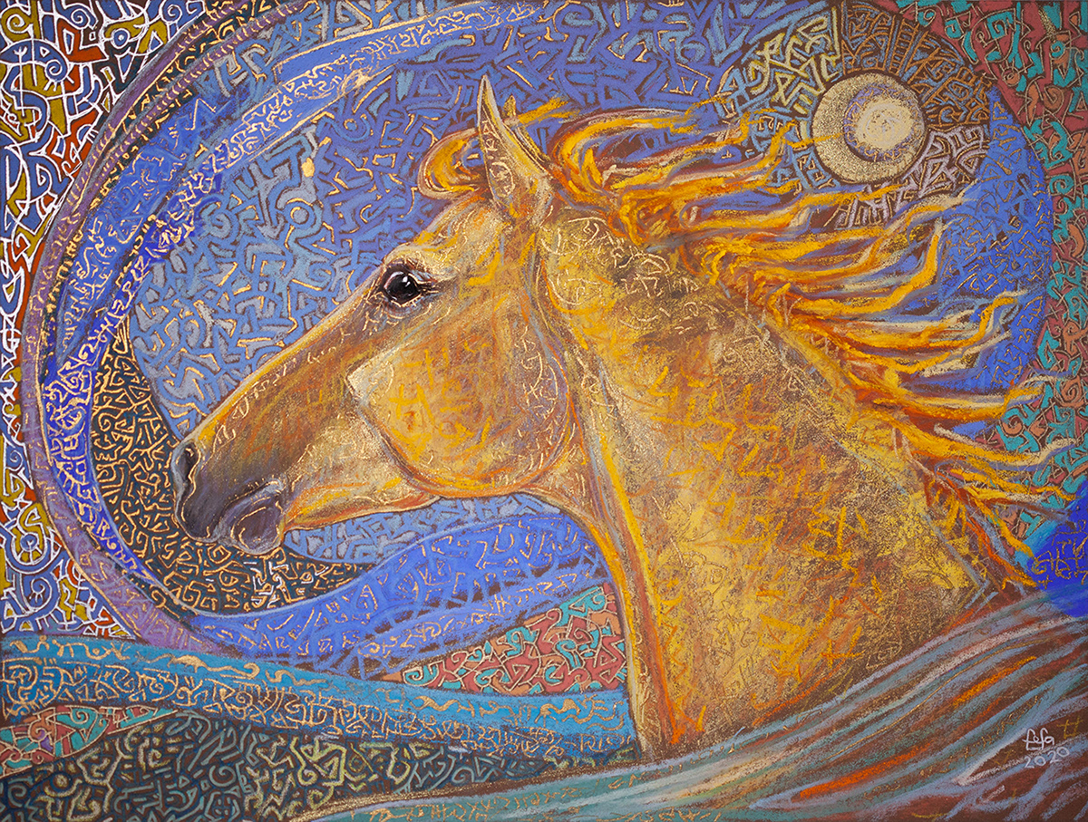 Image may contain: drawing, horse and art