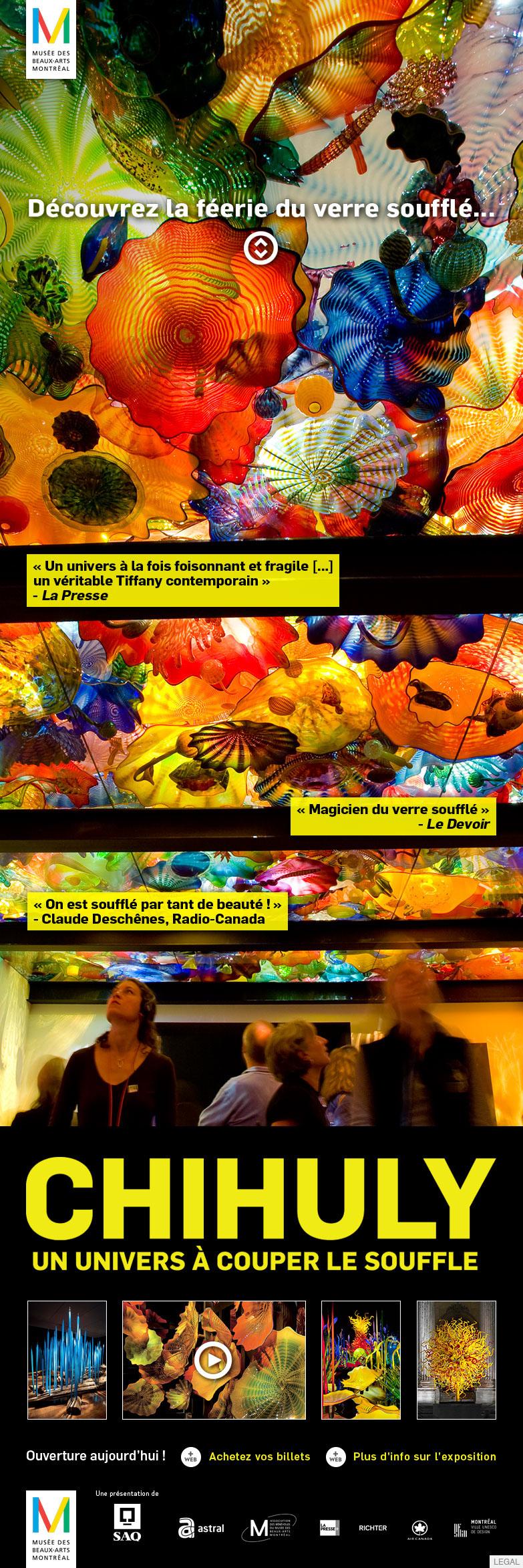 mbam MMFA Musée des Beaux-Arts Montreal Quebec art contemporary art Art Contemporain beaux-arts Splendore A Venezia peter doig No Foreign Lands chihuly peru ux/ui