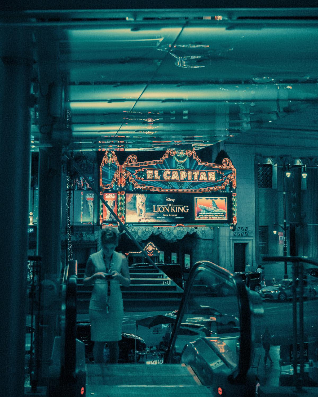 architecture Bladerunner cinematic cinematography colors franckbohbot Los Angeles neonnoir Street typography