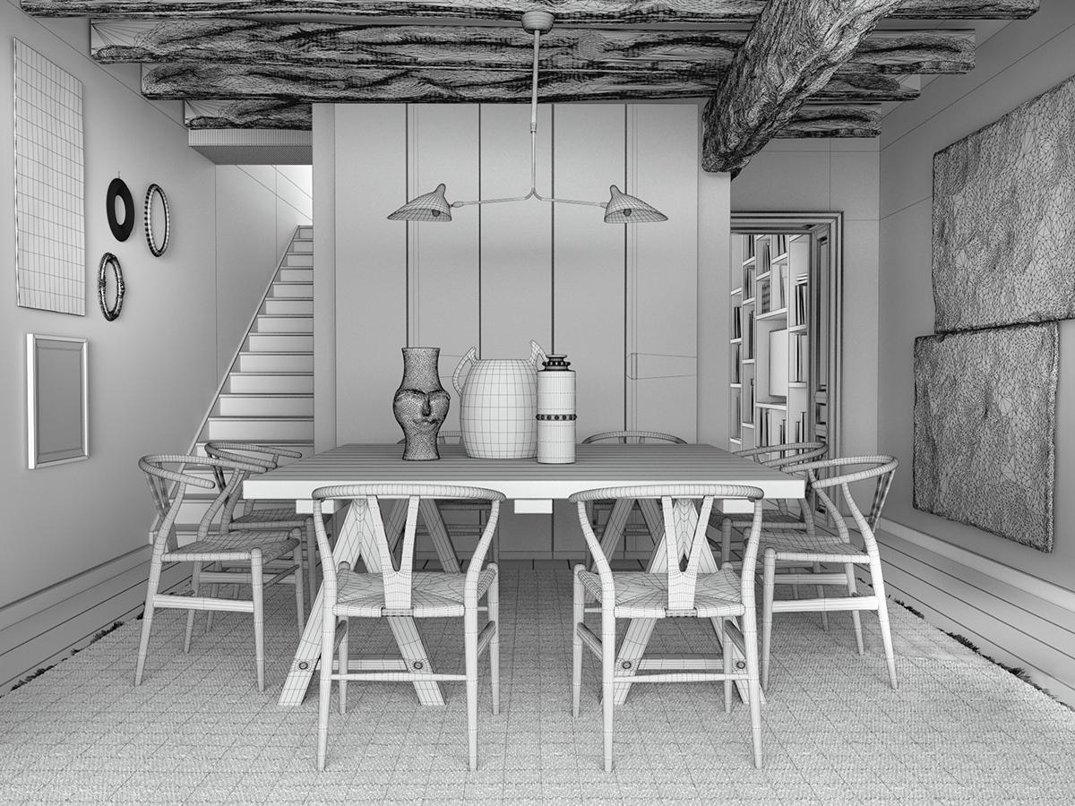 3D // Vintage Apartments on Behance