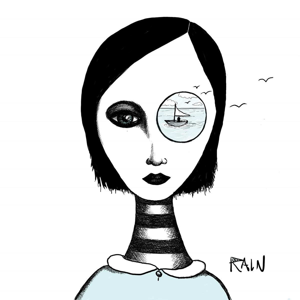 Drawing  sketch penandink pen colorWASH popsurrealism art adobe sketch surreal art ILLUSTRATION