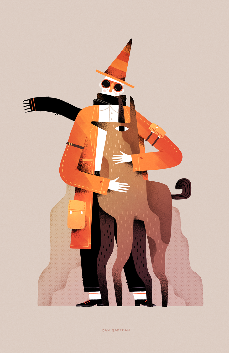 Character video texture art Illustrator watercolor digital mask dog animal