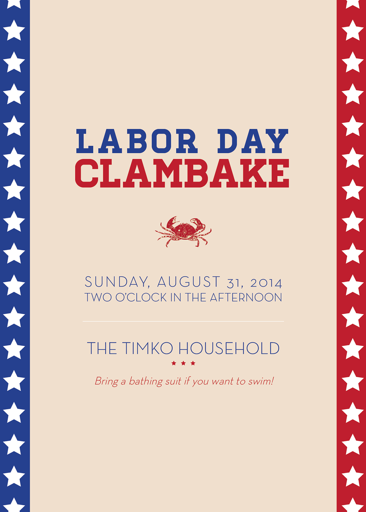 Labor Day Clam Bake Invitation On Behance