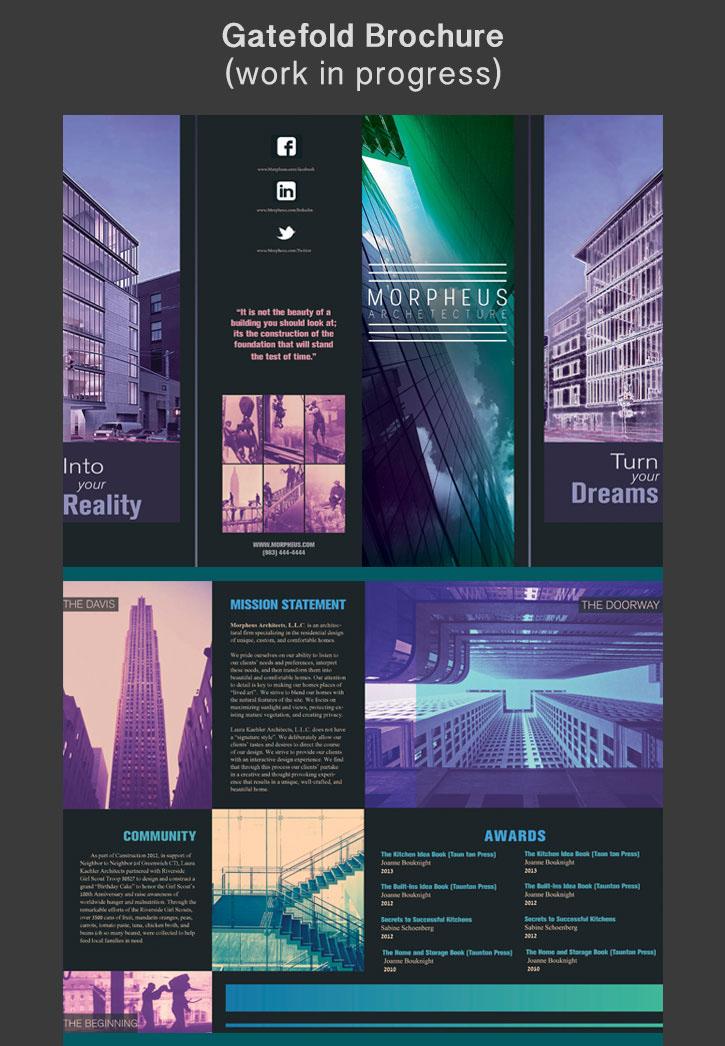 brochure ARCHETECTURE design Gatefold