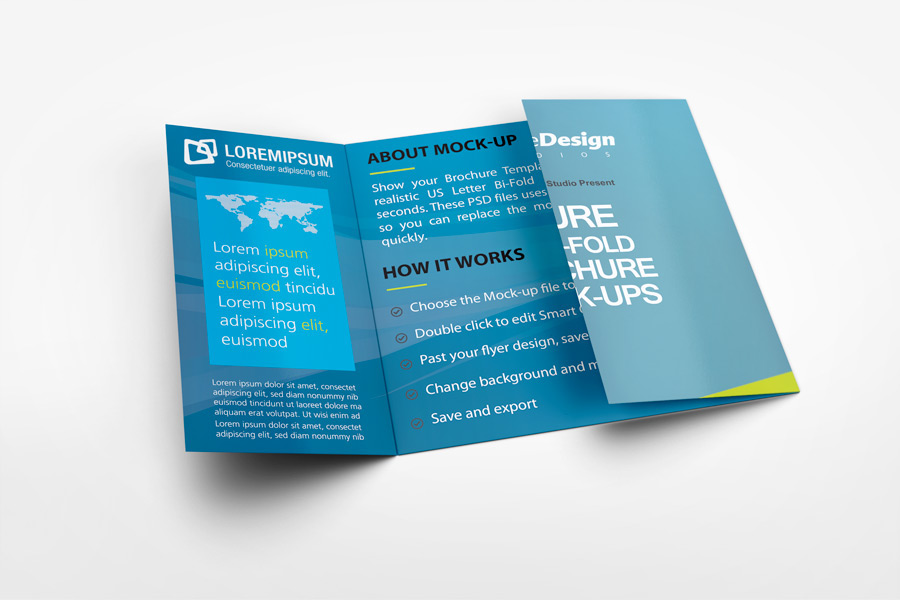 Superior Square Gate Fold Brochure Mockup On Behance Photo