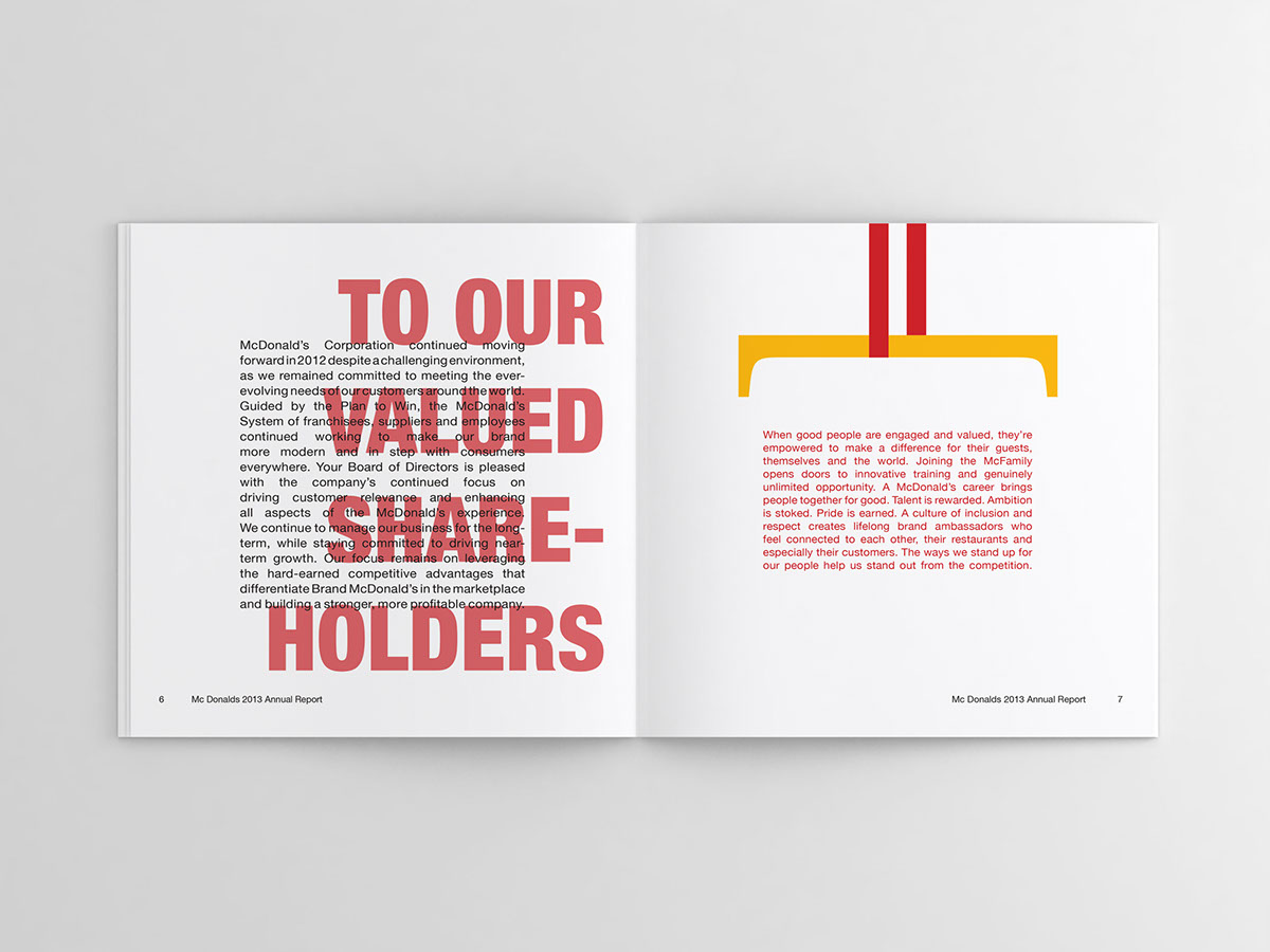 mcdonalds annual report 2006 annual report dear shareholders mcdonald's corporation made an equity investment in us in february 1998, becoming our majority shareholder, and.