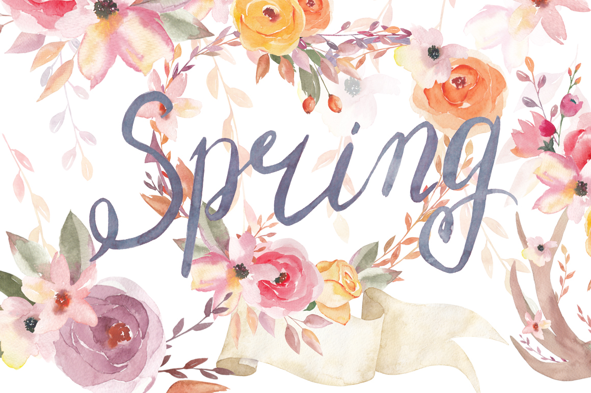 Spring Flowers On Behance