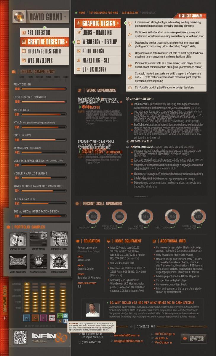 interactive pdf resume on behance