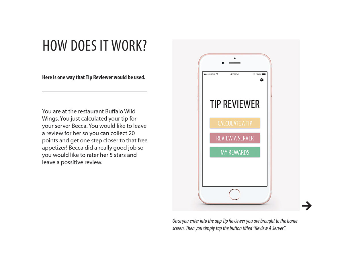Tip Reviewer App On Behance