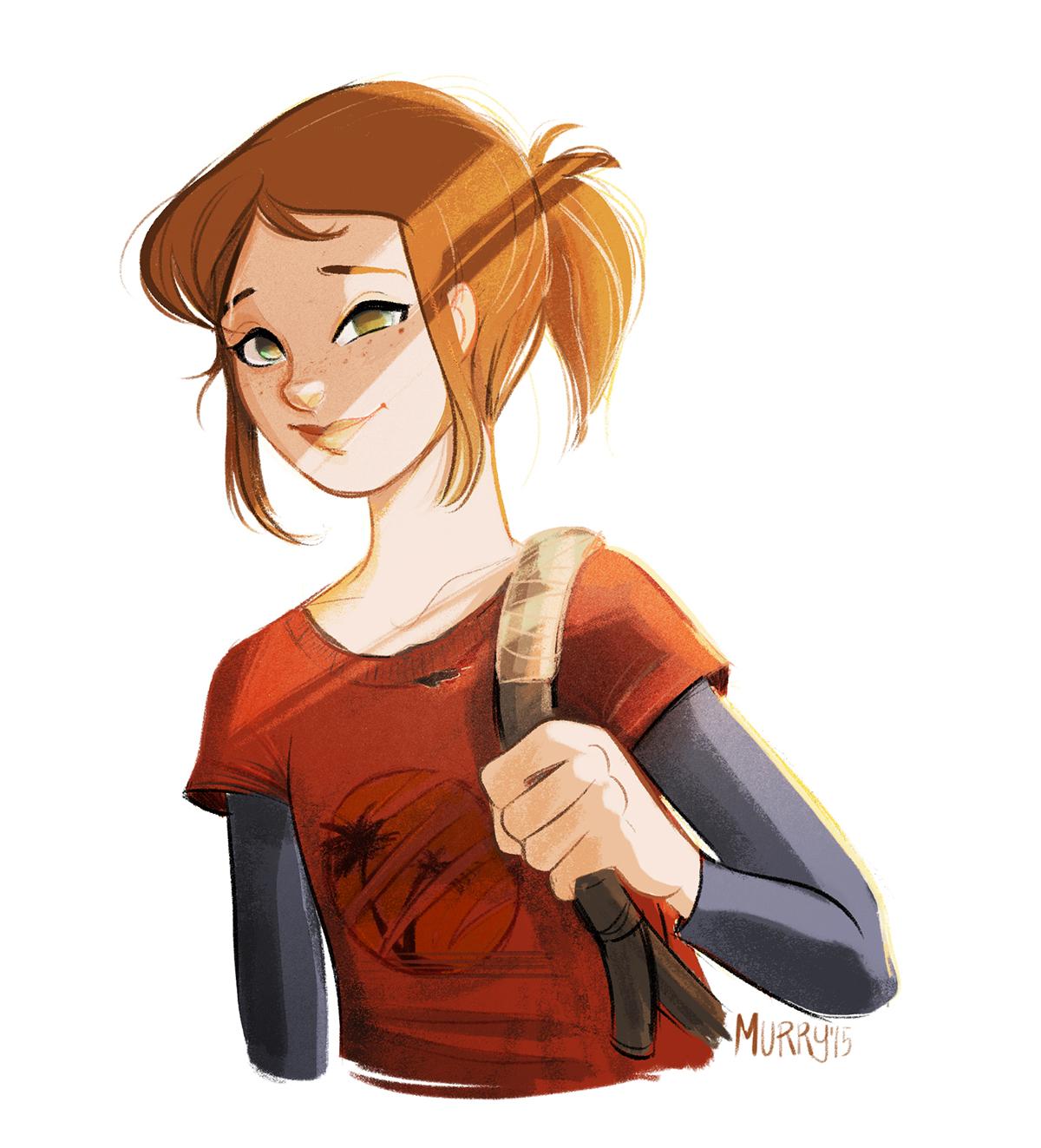 Ellie The Last Of Us Fanart Reloaded On Behance