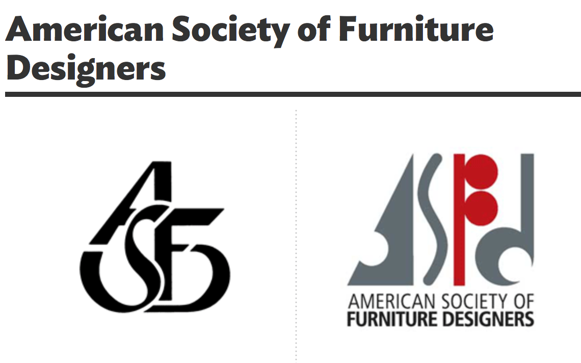 American Society Of Furniture Designer | Logo Redesign On Behance