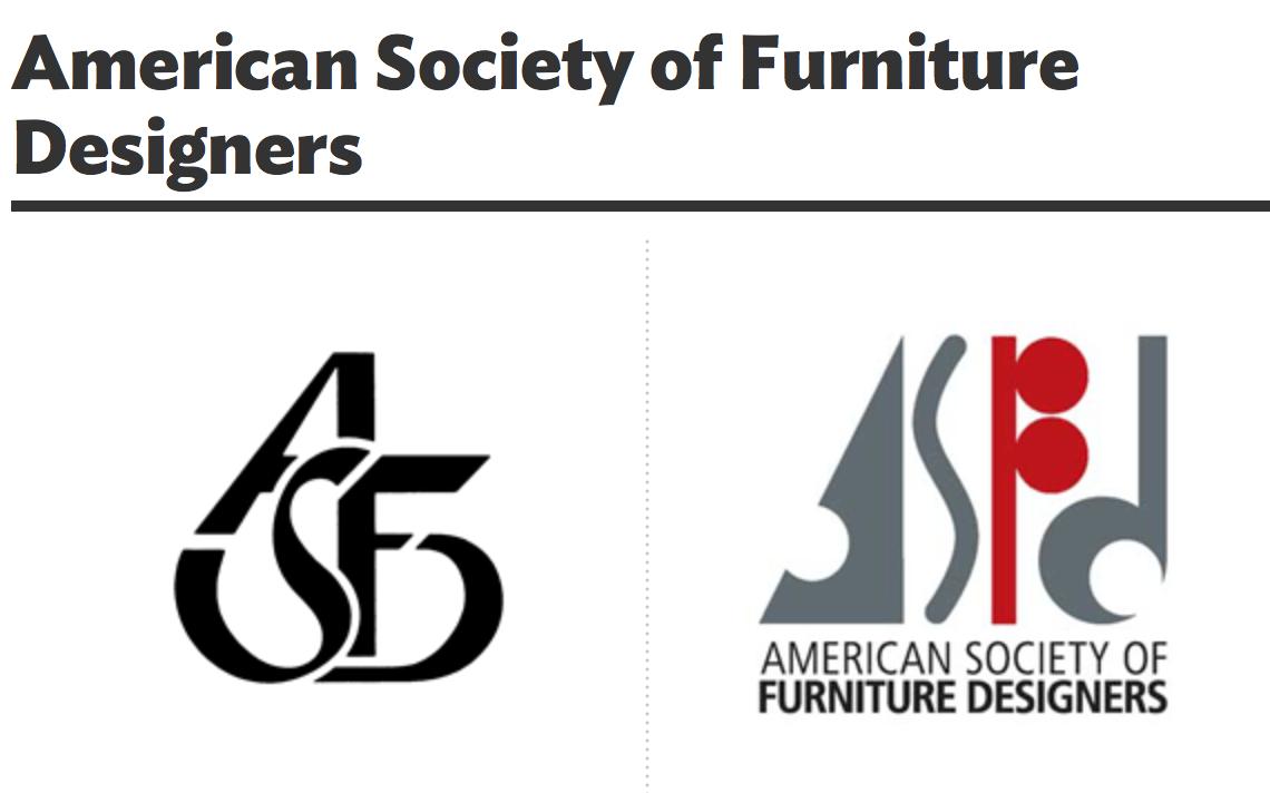 American Society Of Furniture Designer | Logo Redesign On Behance