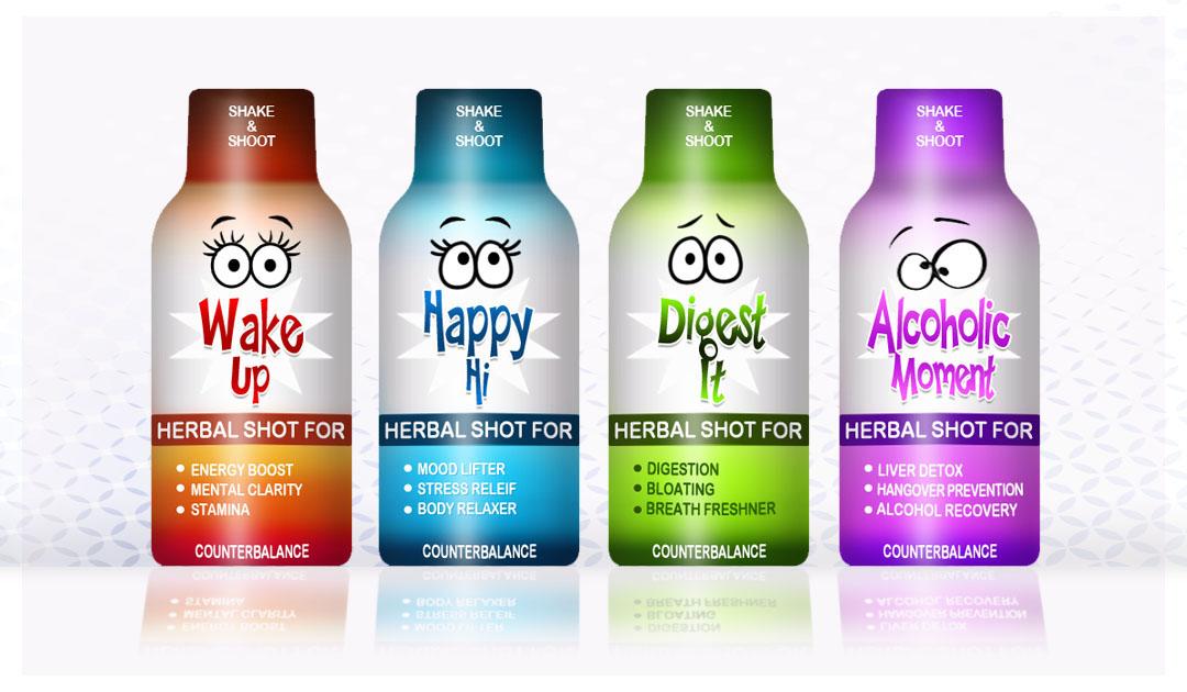 Branding Counter Balance Herbal Shot