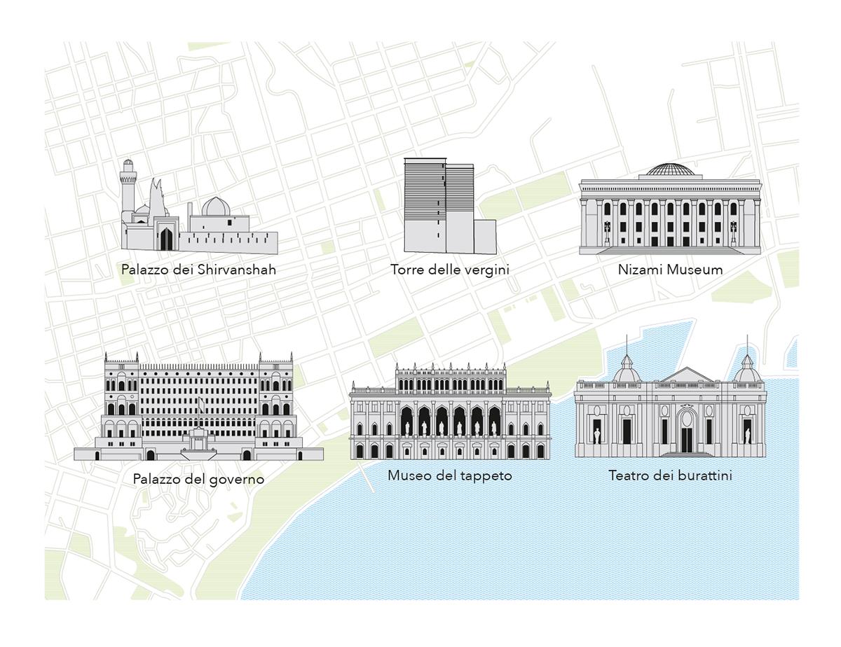 Illustrator infografica infograhpic map Mappa Travel Vectorial vettoriale viaggi architecture
