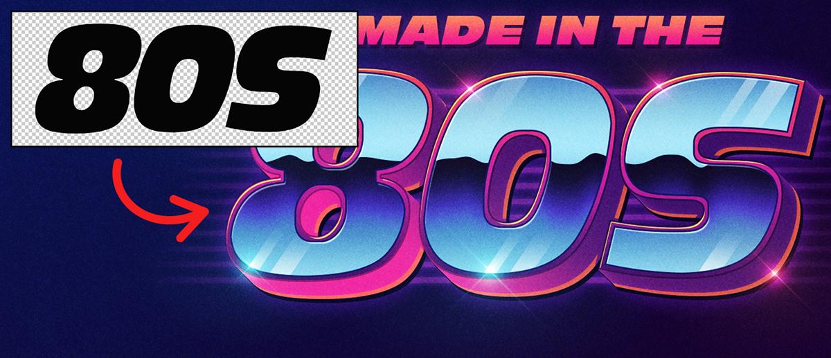 Mockup text effect 80s neon retro style free mockup  type retrowave chrome