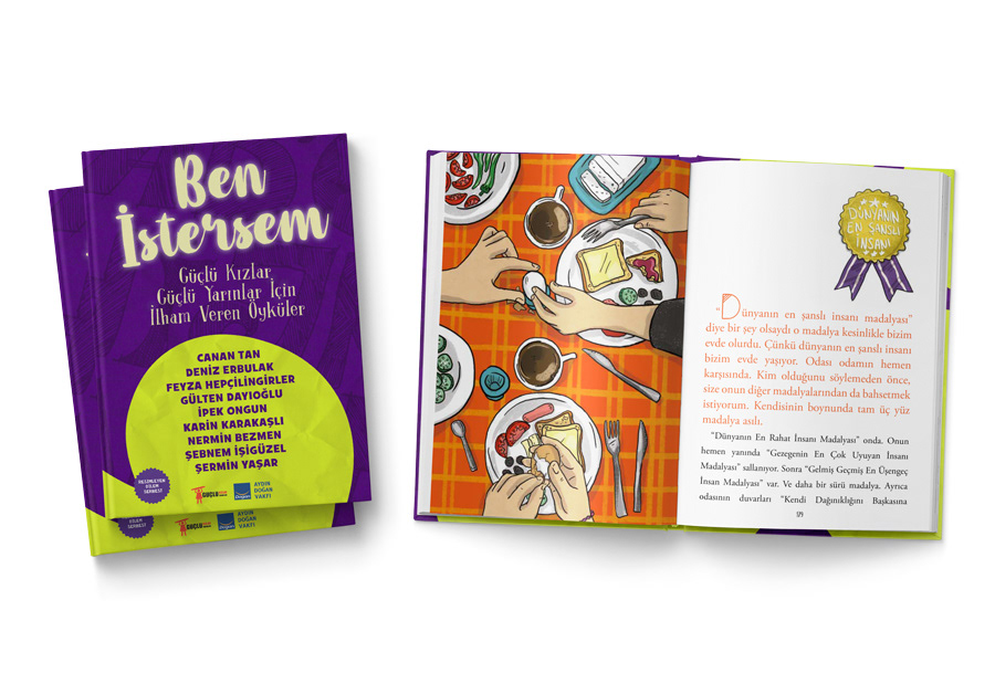 çocuk kitabı ilkgençlik book womenenpowerment girlpower ben istersem dogan Egmont illustrasyon story