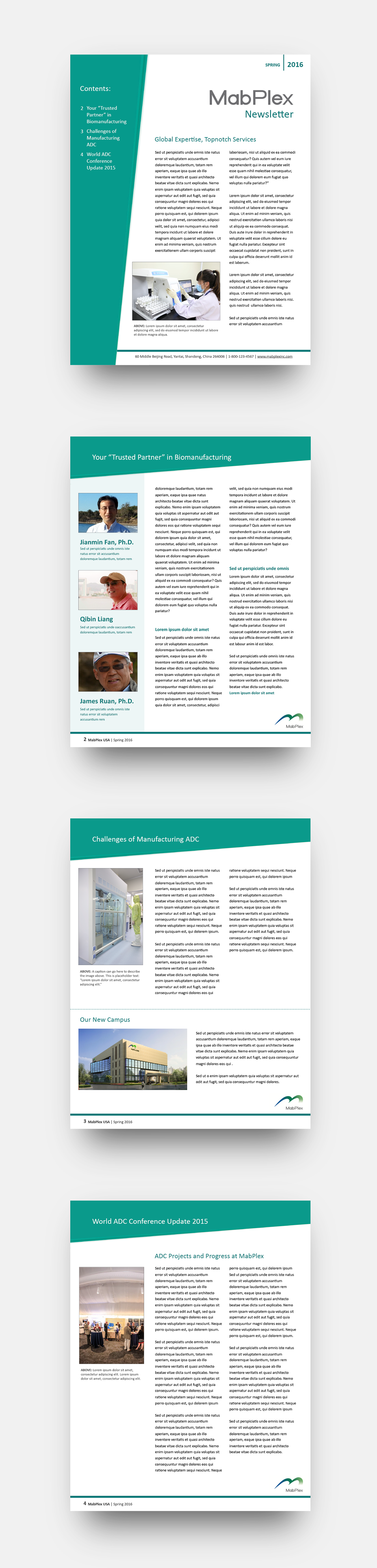 6e6c3b35413289.56f5c3165a4f8 Quarterly Business Newsletter Template on