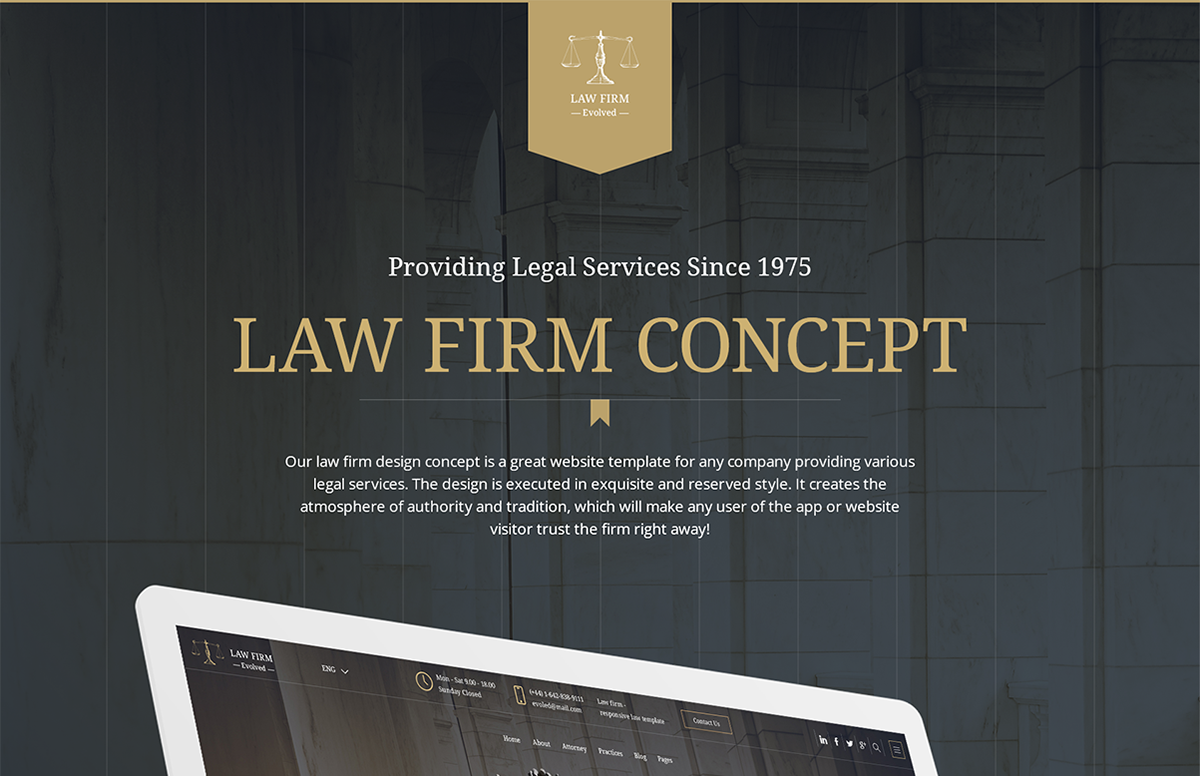 Legal Advice Office Website Design by Mobilunity on Behance