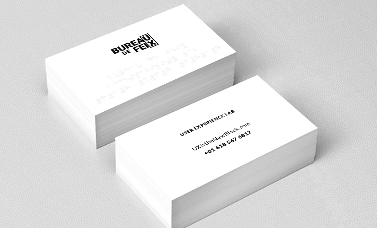 Accessible Business Cards on Behance