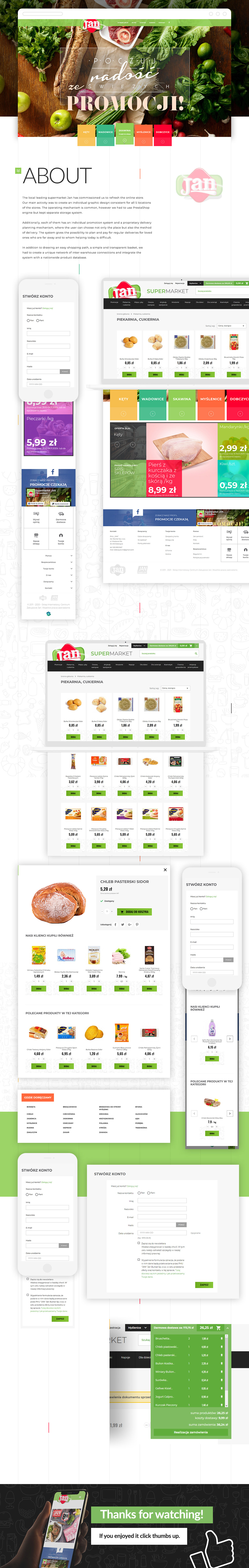 bright clear colorful delivery Food  Grocery light products store