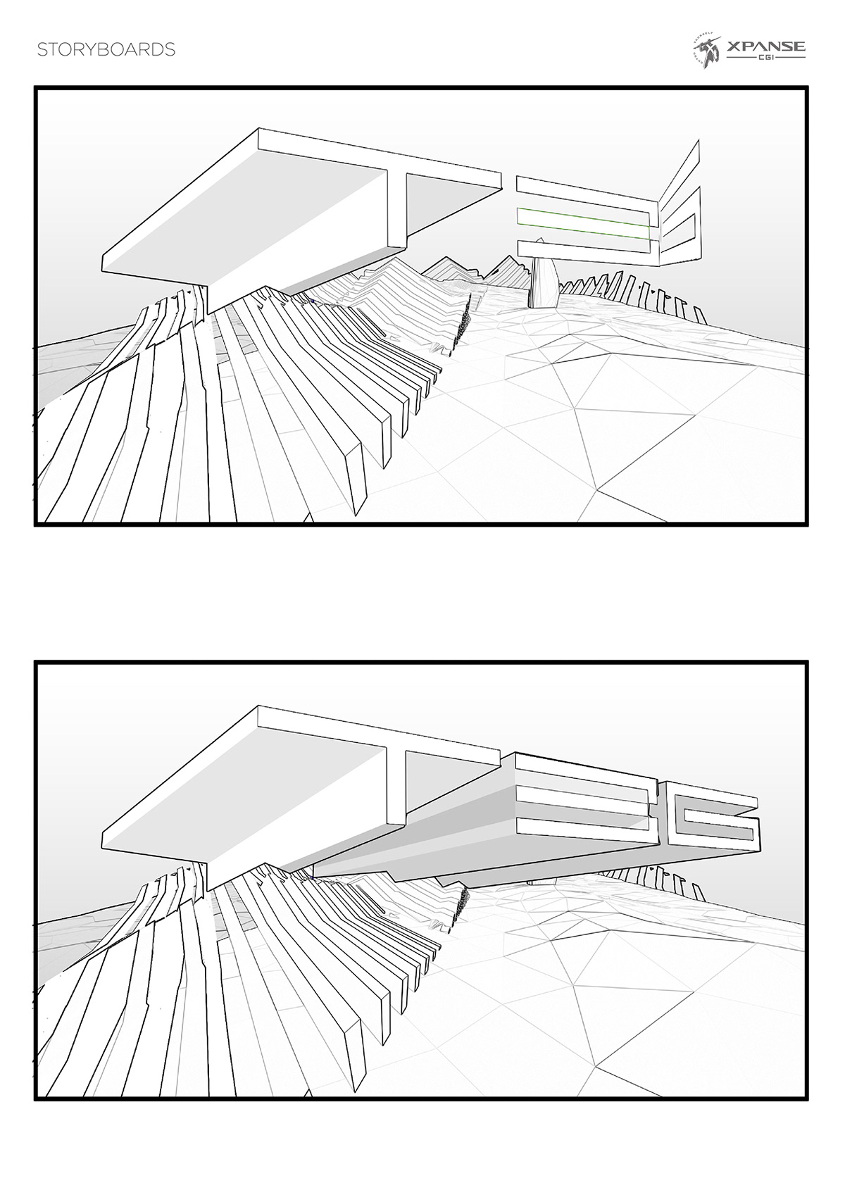 teg animation  Animated Intro intro Storyboards concept design concept art 3d animation 3dsmax storyboarding