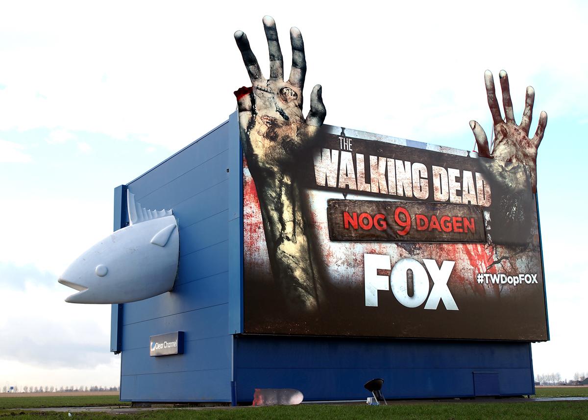 The walking Dead Season 5 5b FOX Netherlands Outdoor countdown billboard
