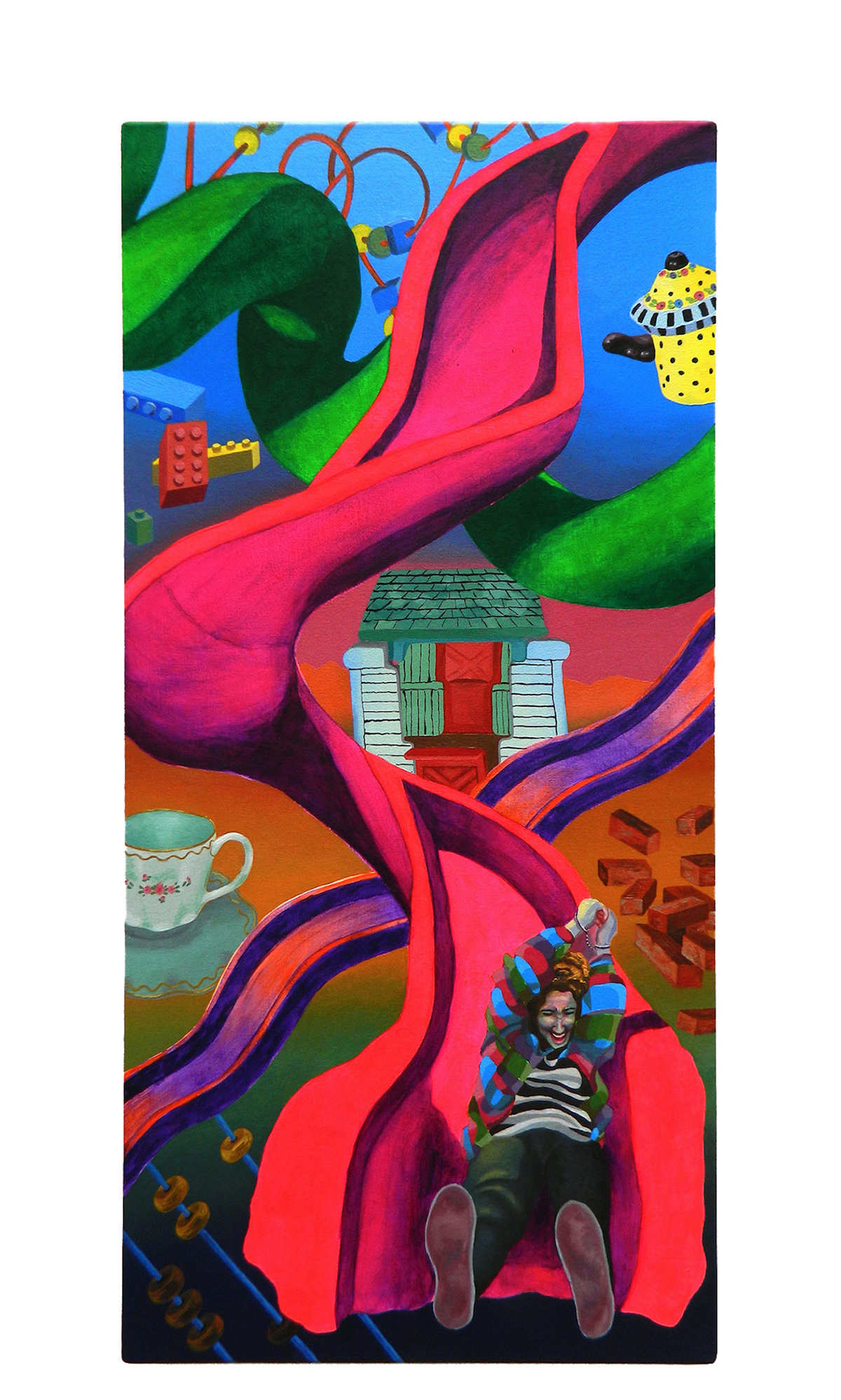 detail detailed childhood surreal hyperreal pattern perpective figurative neon colorful