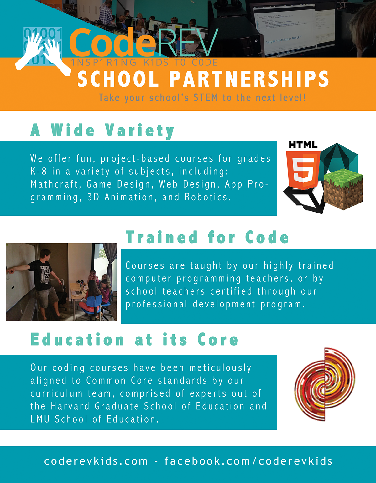 Code Rev Kids Promos on Behance