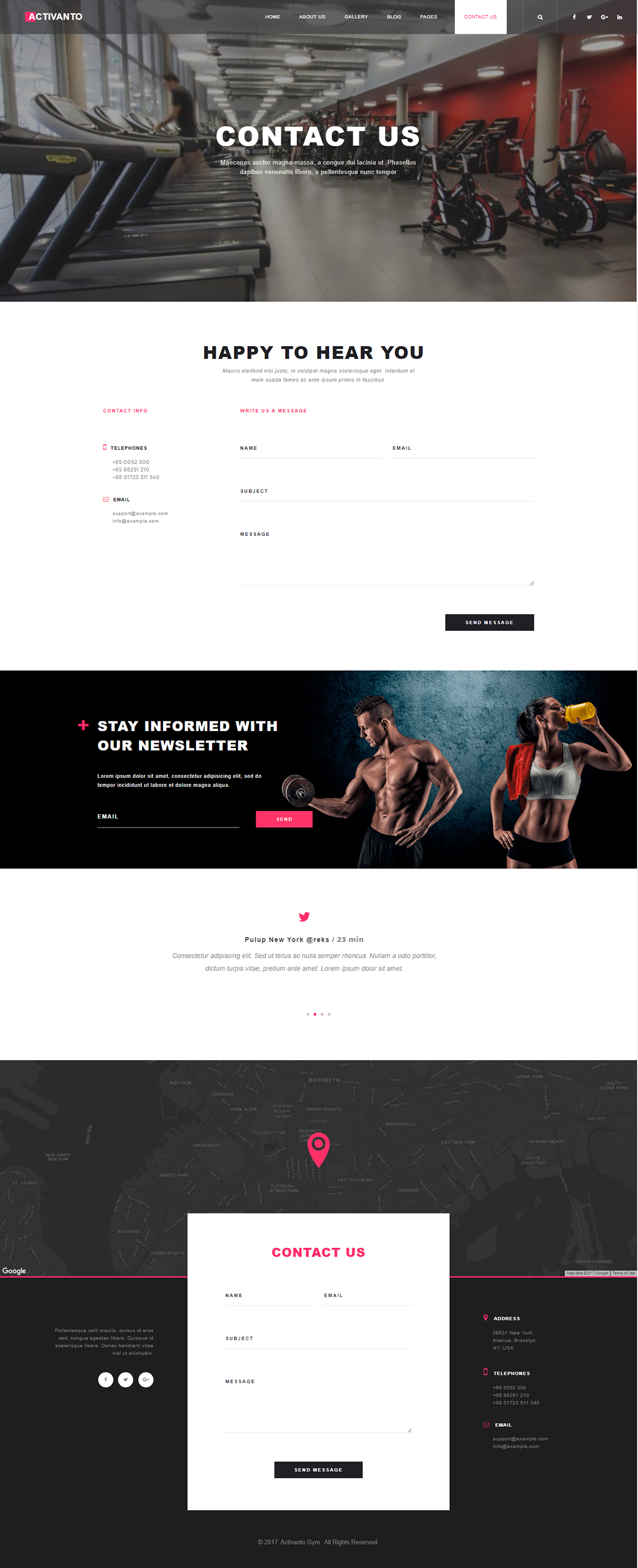 Activanto - Gym & Fitness WordPress Theme