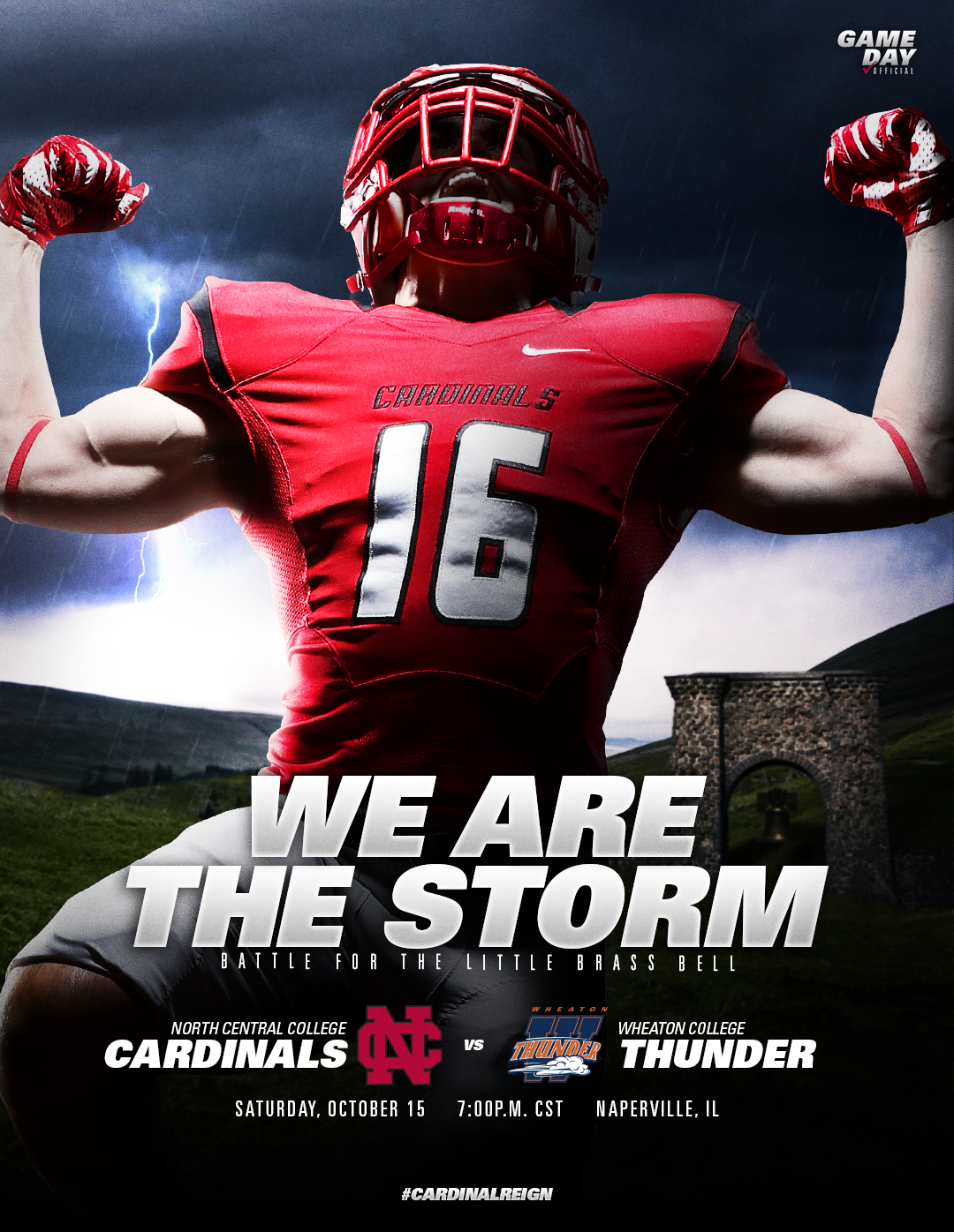 2016 North Central College Football Gameday Graphics On Behance