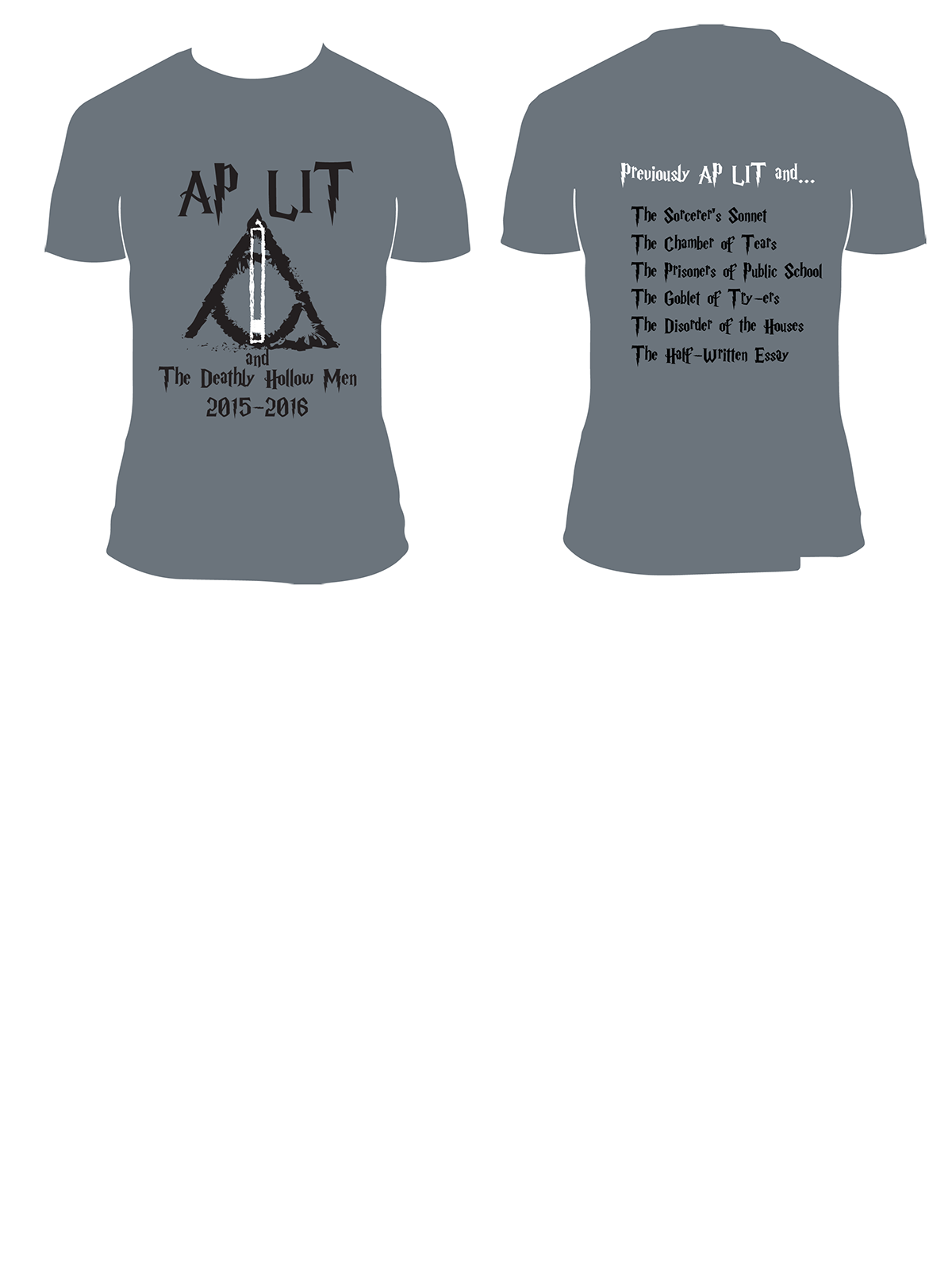 AP Lit Shirt Design On Behance - Lit design 2015