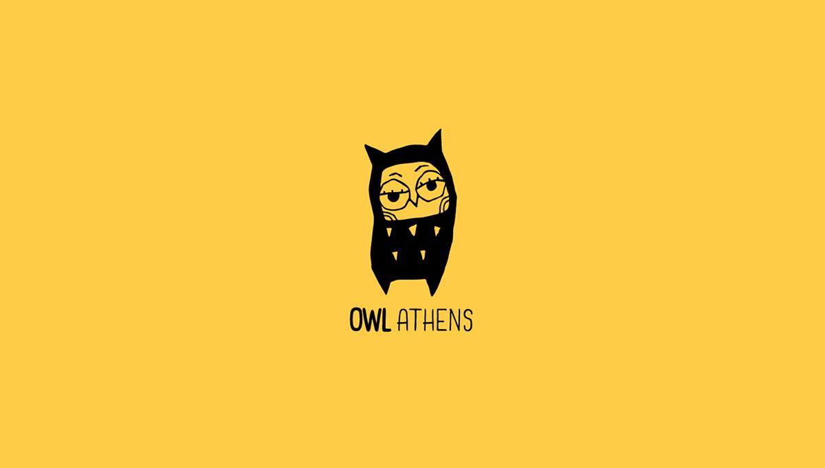 owl bar menu ILLUSTRATION  poster Character