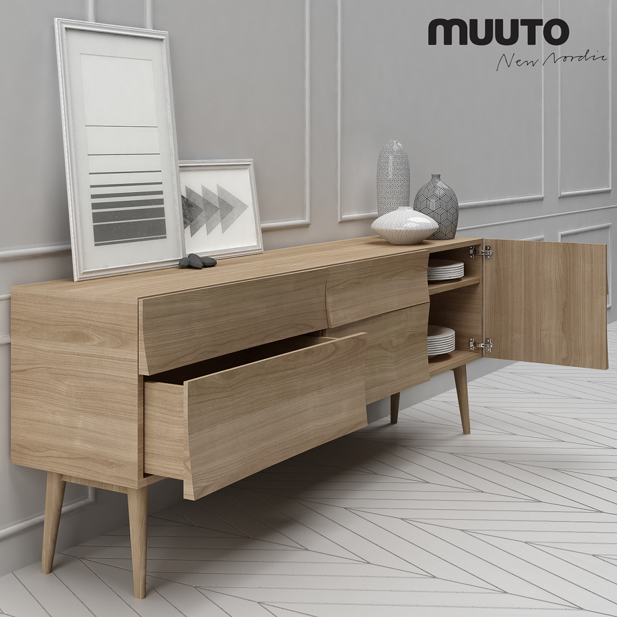 pretty nice ee019 f63d2 3D MODEL Muuto Reflect Sideboard Large on Behance